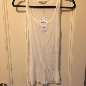 NWT women's Zara white tank top $18 sz M